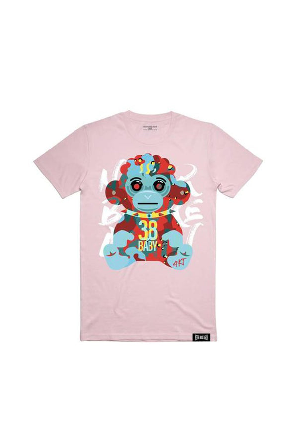 Never Broke Again - Pink Hell Monkey Tee - Sixteen Bars