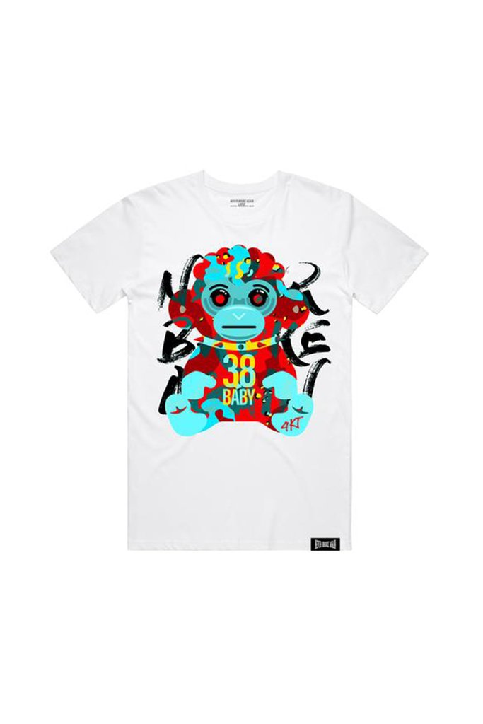 Never Broke Again - White Hell Monkey Tee - Sixteen Bars