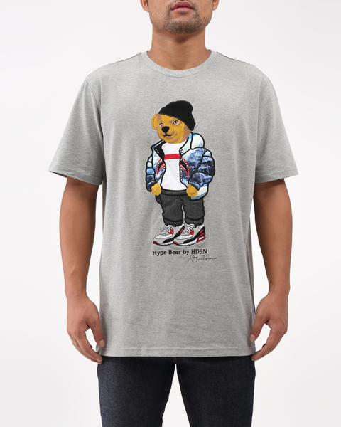 Hudson - Grey Hype Bear T-shirt - Sixteen Bars