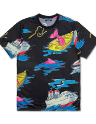 Pink Dolphin - Black Sail Away T-Shirt