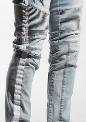 Embellish- Blue Leonard Biker Denim - Sixteen Bars
