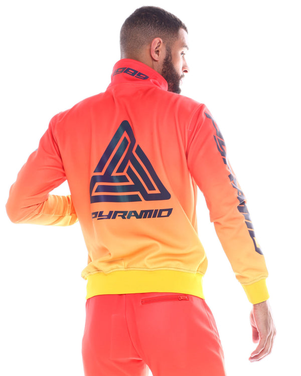 Black Pyramid -  Orange Iridescent Dip Dye Track Jacket - Sixteen Bars