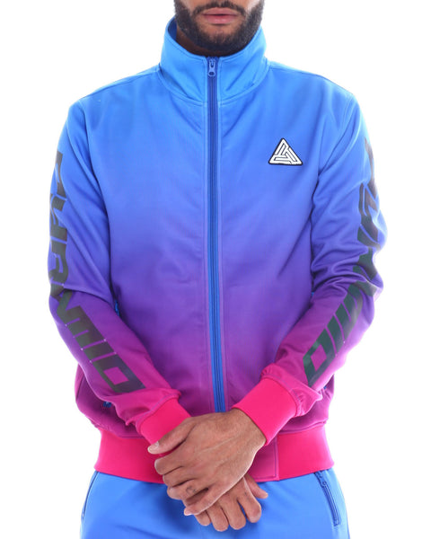 Black Pyramid -  Blue Iridescent Dip Dye Track Jacket - Sixteen Bars