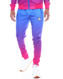 Black Pyramid -  Blue Iridescent Dip Dye Track Pants - Sixteen Bars