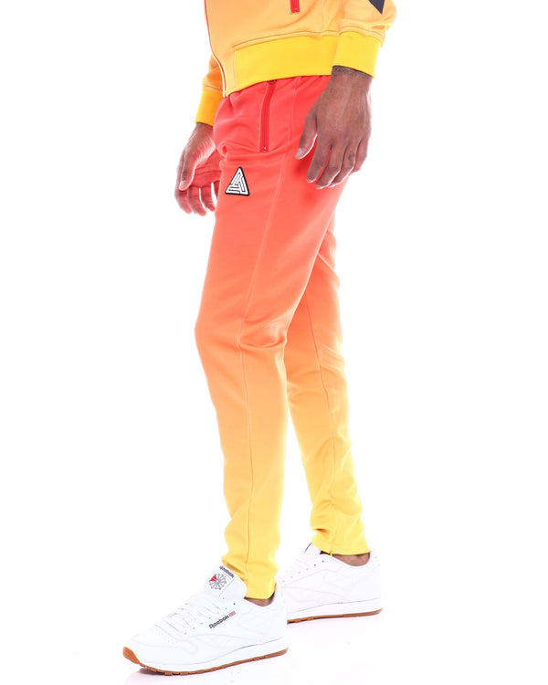 Black Pyramid -  Orange Iridescent Dip Dye Track Pants - Sixteen Bars