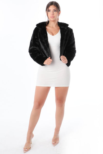 Enjoy The Ride Faux Fur Jacket - Black