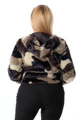 Combat Ready Faux Fur Camo Jacket