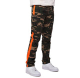 Smoke Rise - Camouflage  w/Orange Stripe Cargo Pants