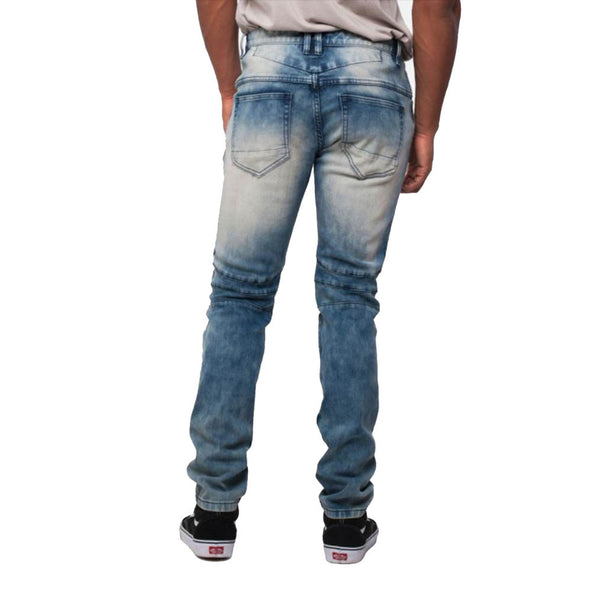 Smoke Rise  - Blue Open Knee Distressed Denim - Sixteen Bars