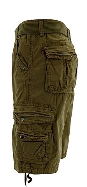 Mens Cargo Shorts - Olive - Sixteen Bars