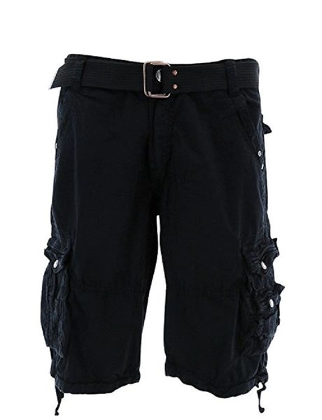 Mens Cargo Shorts - Black - Sixteen Bars