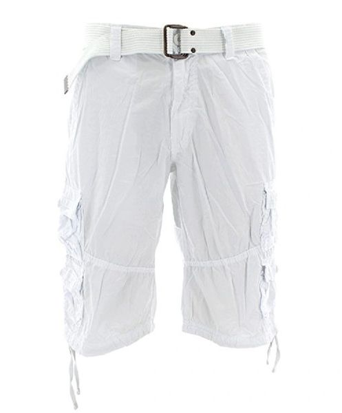 Mens Cargo Shorts - White - Sixteen Bars