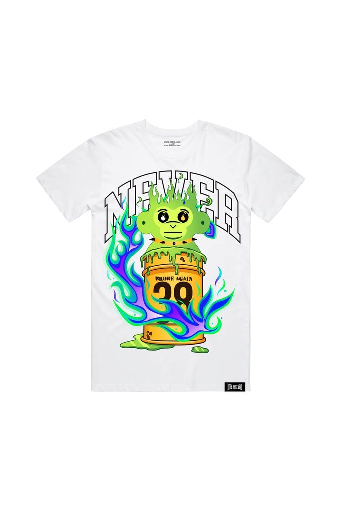 Never Broke Again - White Slime Ooze T-Shirt