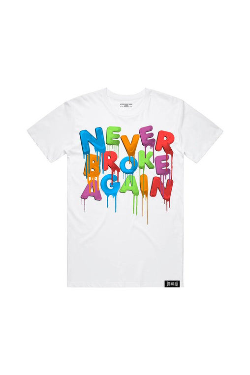 Never Broke Again - White Sept Drip T-Shirt
