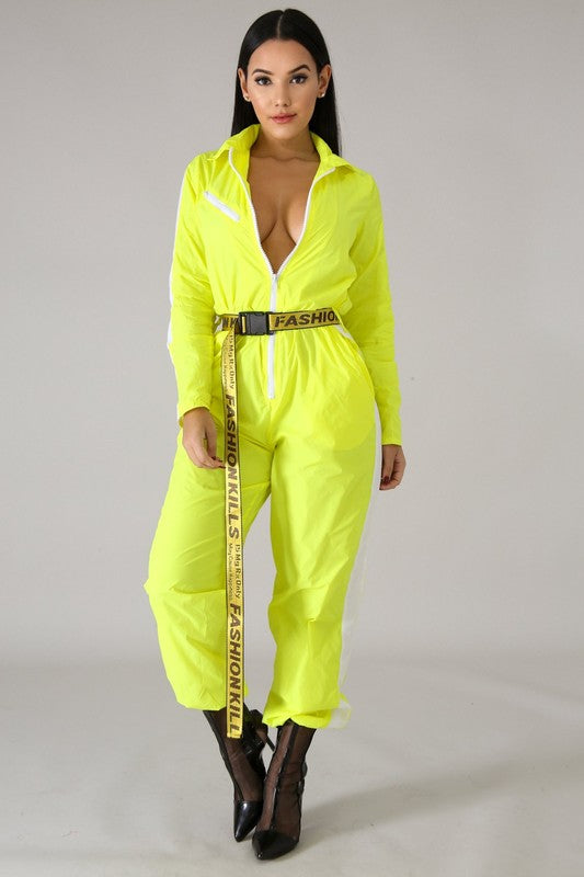 Fashion Kills Buckle Jumpsuit - Sixteen Bars
