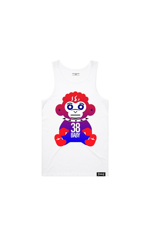 Never Broke Again - White  July 4th Monkey Tank - Sixteen Bars