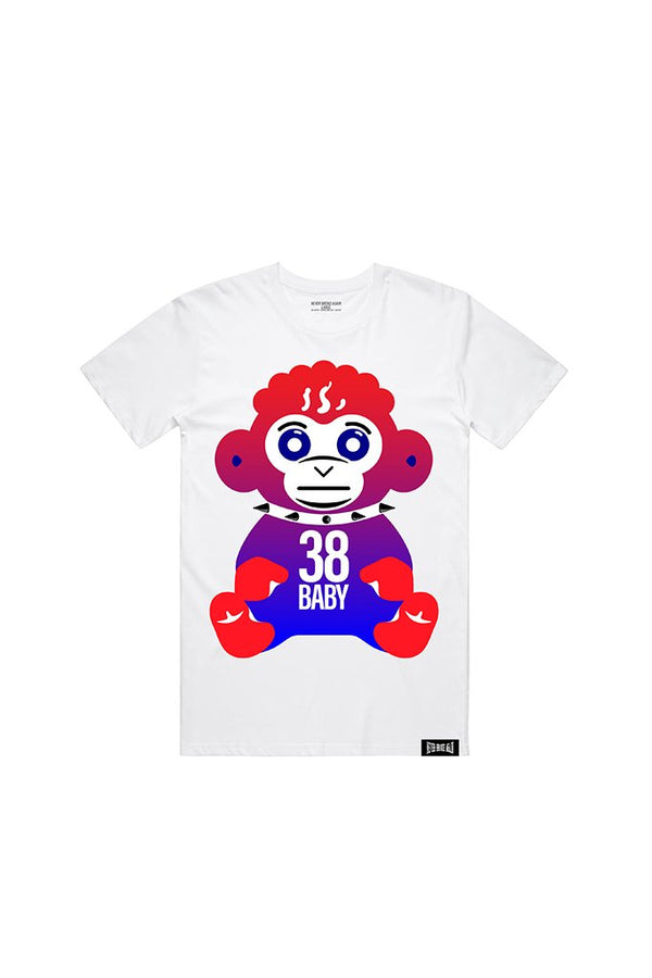 Never Broke Again - White July 4th Monkey T-Shirt - Sixteen Bars