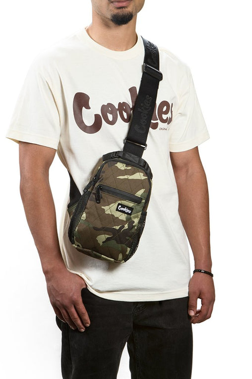 "Cookies -  Camo ""Noah"" Quilted Over The Shoulder Bag - Sixteen Bars"