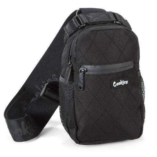 "Cookies - Black ""Noah"" Quilted Over The Shoulder Bag - Sixteen Bars"