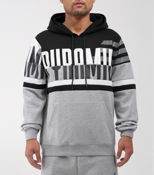 Black Pyramid - Grey Over sized Logo Hoodie - Sixteen Bars