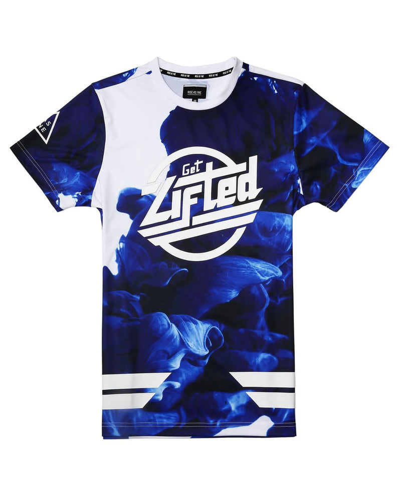 RS1NE - Blue Get Lifted High Density Gel Tee - Sixteen Bars