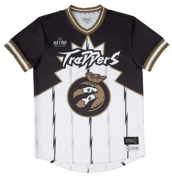 RS1NE - Black/White/Brown Trappers Jersey - Sixteen Bars