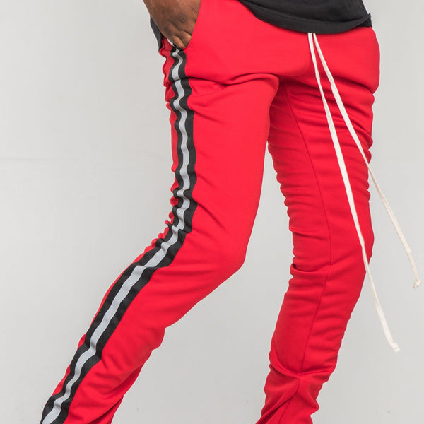 EPTM - Red/Black Reflective Stripe Track Pants - Sixteen Bars
