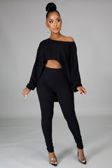 Soft Like Me Pant Set - Black