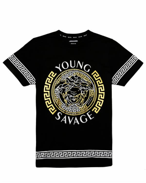 RS1NE - Black Young Savage Tee - Sixteen Bars