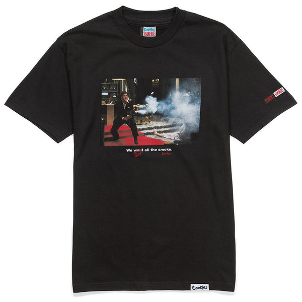 Cookies - Black Scarface Smoke Tee - Sixteen Bars