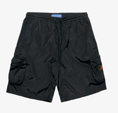 Smoke Rise - Nylon Cargo Shorts -  Black