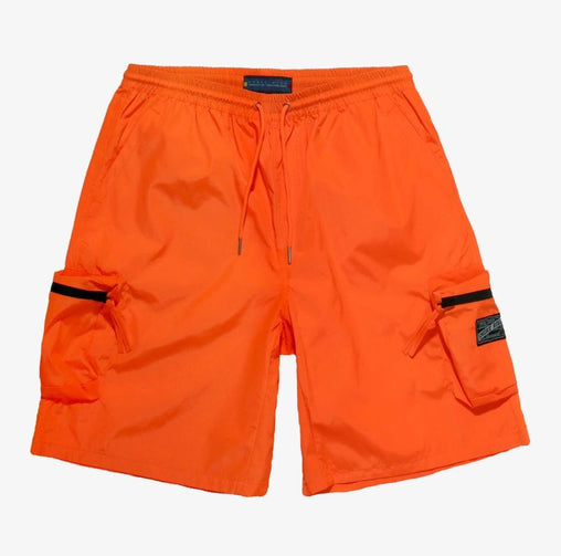 Smoke Rise - Nylon Cargo Shorts -  Orange