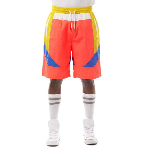 Smoke Rise - Nylon Color Block Shorts -  Solar