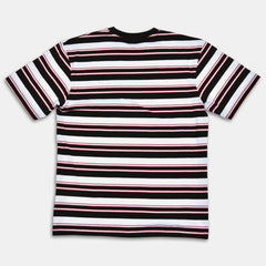 Tango Hotel - Retro Striped Tee - Black/White