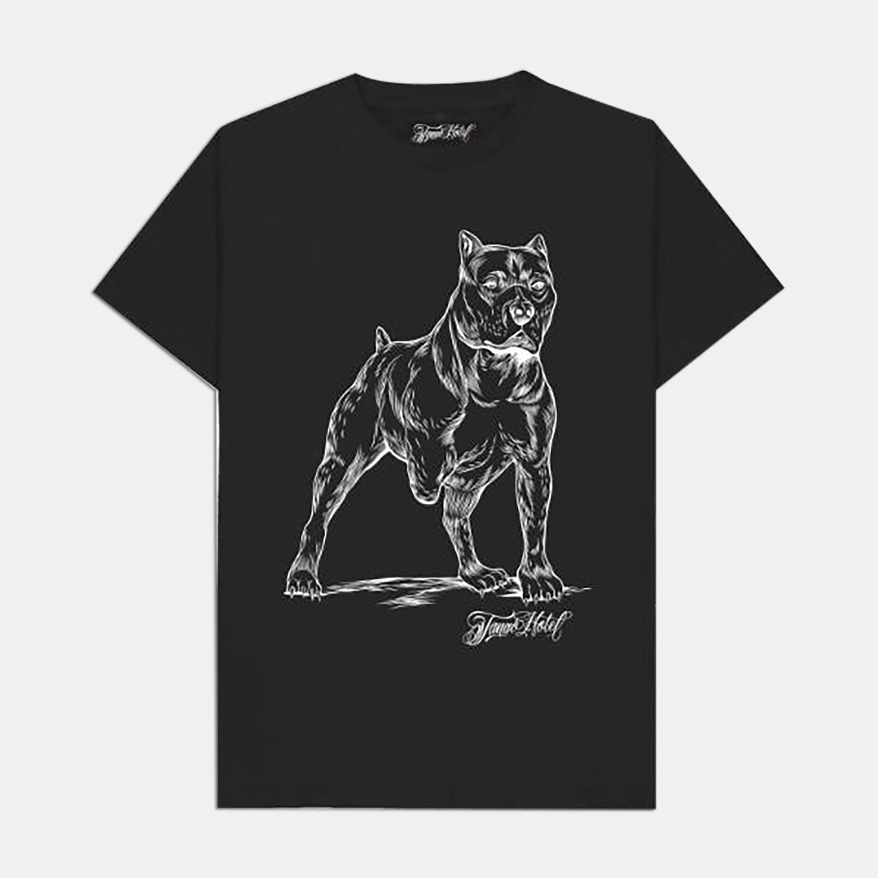 Tango Hotel - Mister Cartoon Scrappy Tee - Black