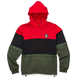 Cookies - Tahoe Pieced Red, Black & Olive Hoodie - Sixteen Bars