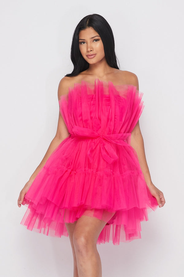 Pink Layer Me Tulle Dress - Sixteen Bars