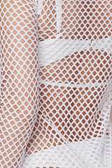 Caught in the Net Cover Up Dress - White - Sixteen Bars