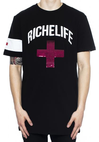 Vie Richie - Black Riche Plus Tee - Sixteen Bars