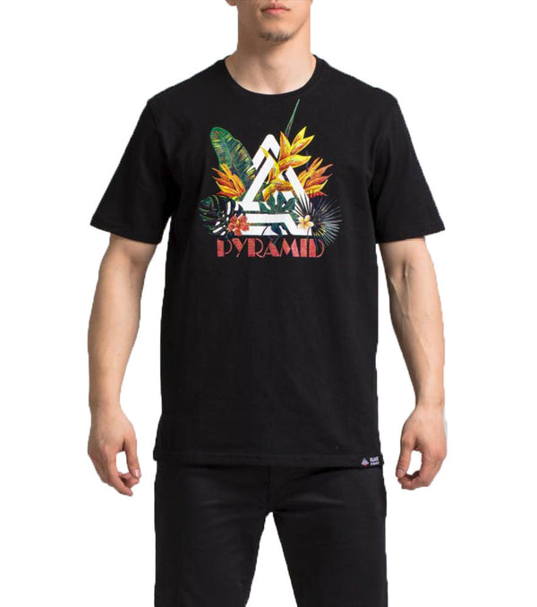 Black Pyramid - Black Tropical BP T-Shirt - Sixteen Bars