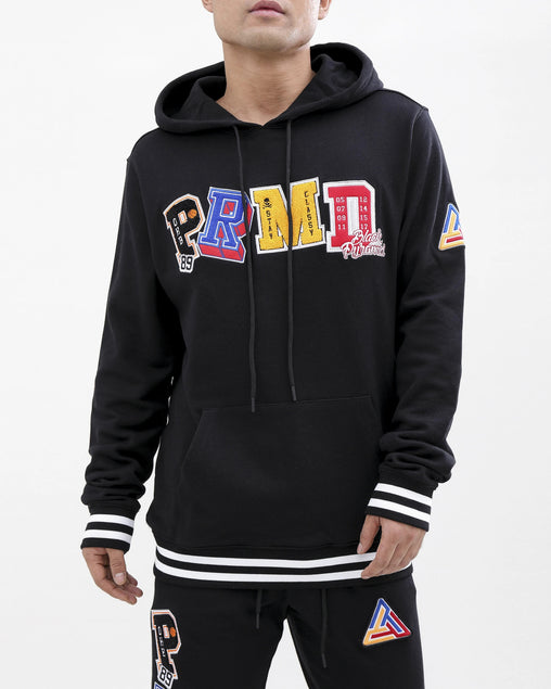Black Pyramid - Black Varsity Collection Hoodie - Sixteen Bars