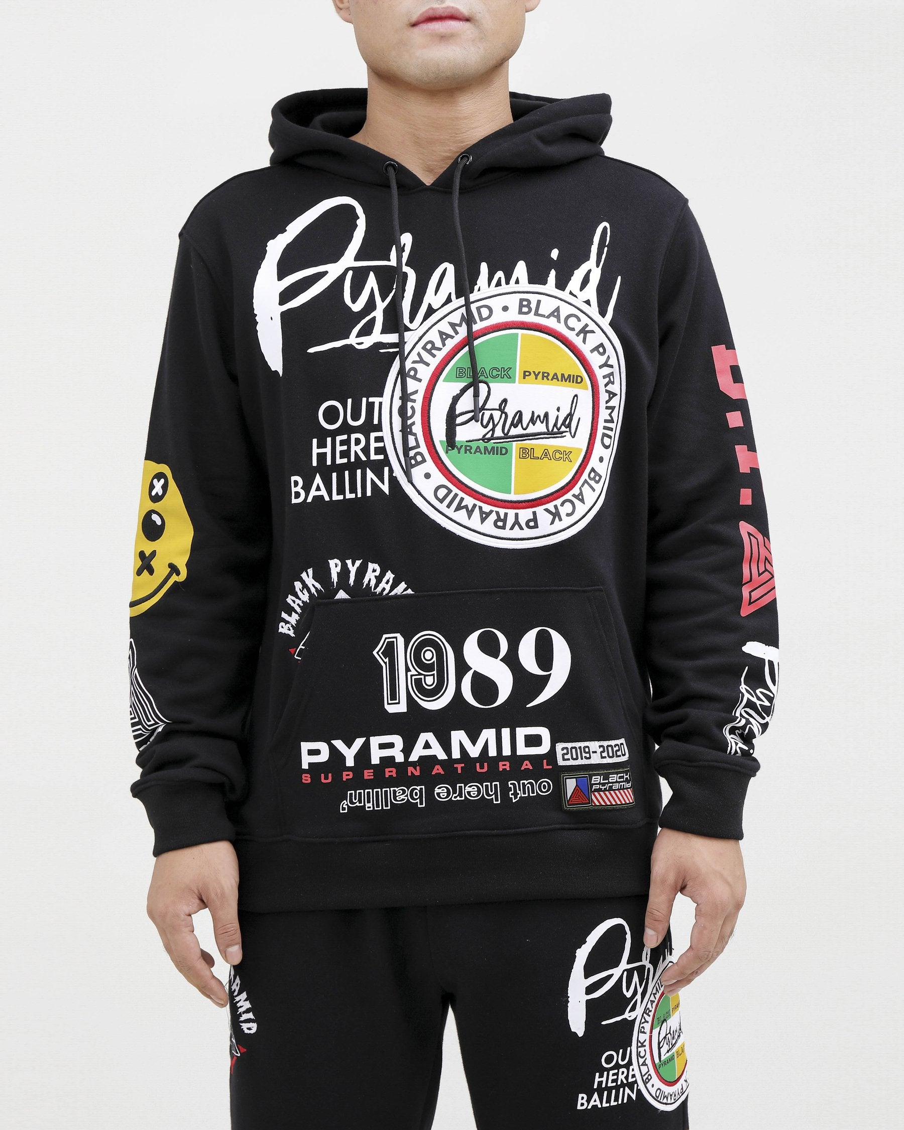 Black Pyramid - World Famous Logo Hoody - Sixteen Bars