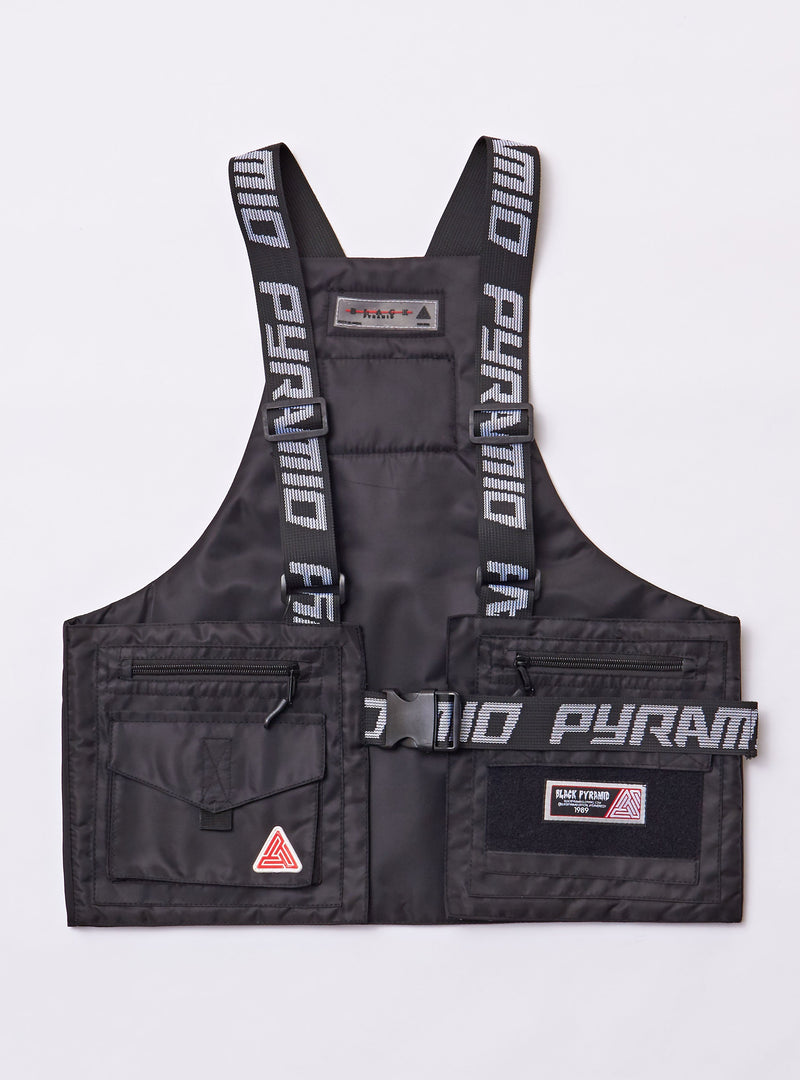 Black Pyramid - Black Military Vest - Sixteen Bars