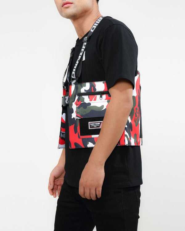 Black Pyramid - Red Camo Military Vest