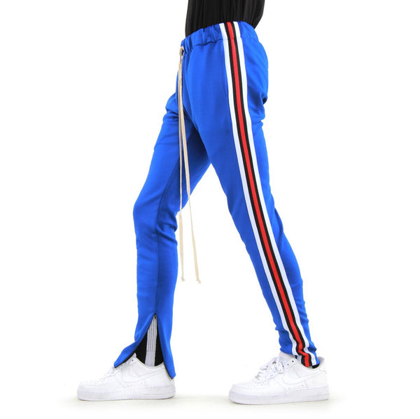 EPTM - Blue  Red/White/Black Taped Track Pants - Sixteen Bars