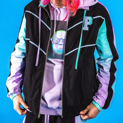 Pink Dolphin - Black Mr Positive Windbreaker - Sixteen Bars