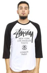 Stussy – White Worldwide Tour Raglan