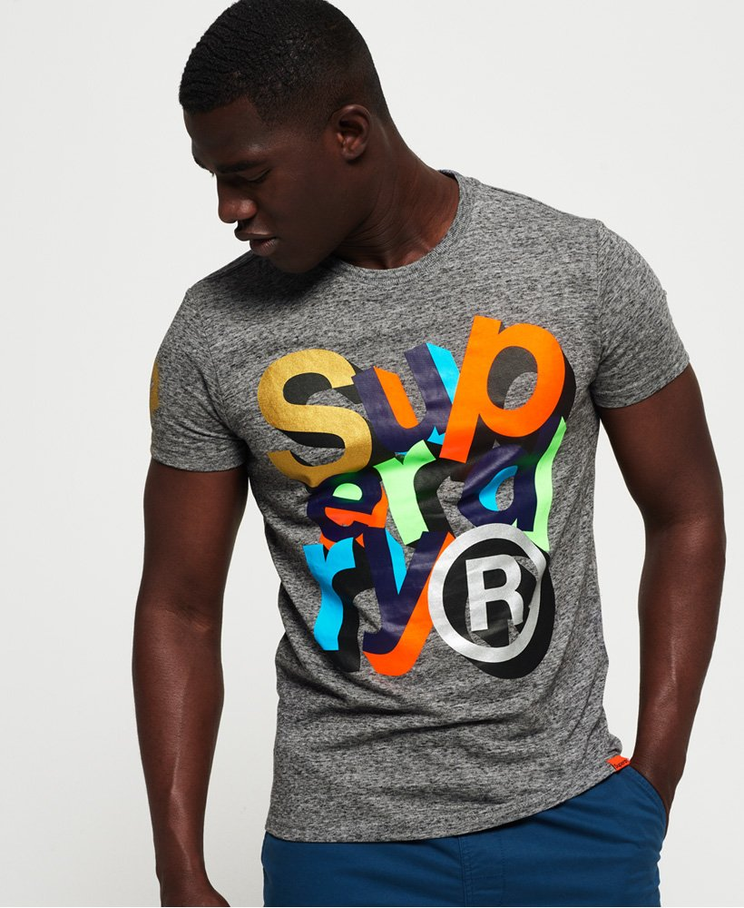 Superdry - Grey Super 5 T-Shirt - Sixteen Bars