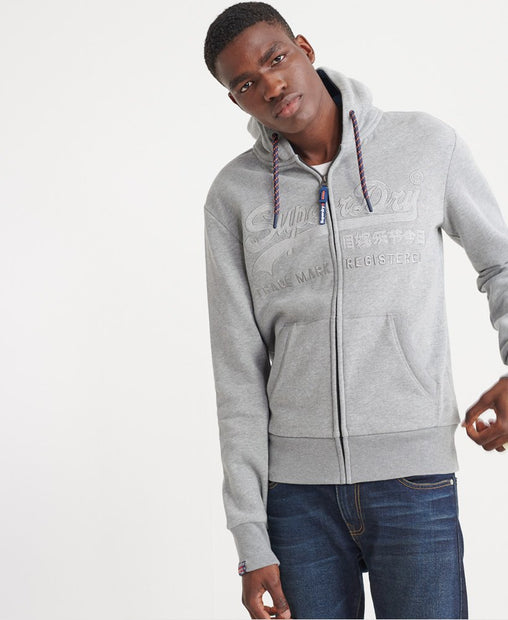 Superdry - Grey Downhill Racer Zip Hoodie - Sixteen Bars