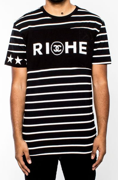 Vie Riche - Black Riche Double C Tee - Sixteen Bars